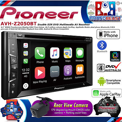 "Pioneer AVH-Z2050BT 6.2"" Apple Carplay Bluetooth Usb Dvd Iphone AVHZ2050BT RCAM"