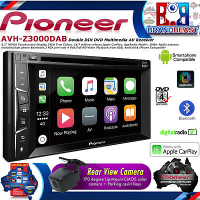 "Pioneer AVH-Z3000DAB 7"" Apple carplay Dvd  Bluetooth Apps DAB+ AVHZ3000DAB RCAM"