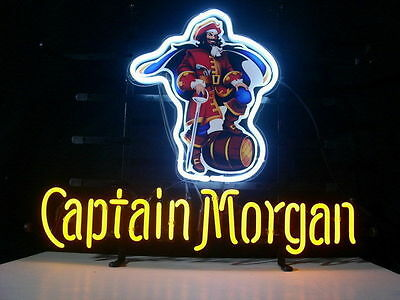 "New Captain Morgan original spiced Rum Yellow Neon Light Sign 20""x16"""