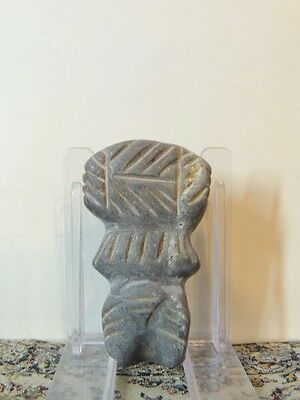 Antique Rare Stone Figure statuette,mother godess,fertility,idol,alien