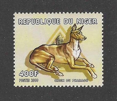 Dog Art Full Body Portrait Postage Stamp PHARAOH HOUND Niger 2000 MNH