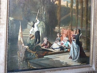 oil painting 19th century on canvas from SERRURE Auguste 55,5 x 66,5 cm.