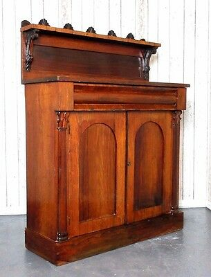 An Antique Victorian Rosewood Chiffonier Cupboard Sideboard ~Delivery Available~