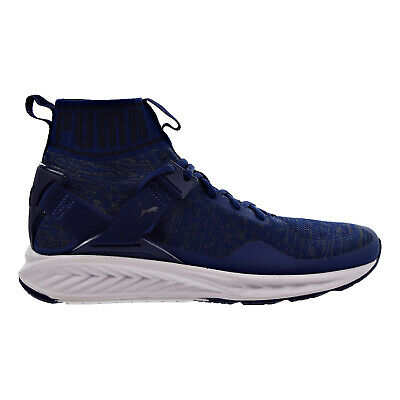 36ba8444b69 Puma Ignite EvoKnit Men s Shoes Blue Depth Quiet Shade Peacoat 189697-11