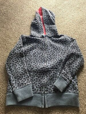 Mini Boden Girl Blue Hoodie Zip Up Age 5-6 Years