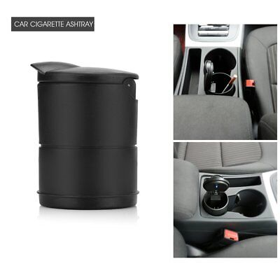 Car Cup Holder Cigarette Ashtray Smokeless Blue LED Light & Cover Black Cup Hold
