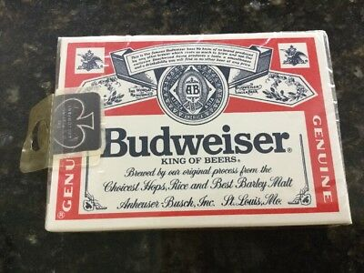 Budweiser  Beer Brewery Playing Cards ~ Brand New Sealed Deck