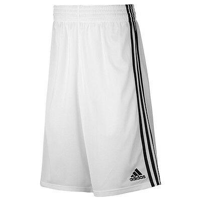 New Boys Junior Kids Adidas Long Basketball Shorts - White