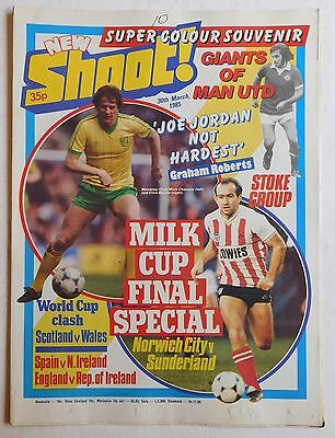 SHOOT Football Magazine - 30 March 1985 - Stoke City, Morton