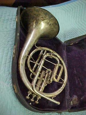 Antique Buescher Eb/F Mellophone, Very Good Playing Condition