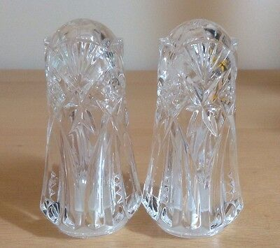 Lead Crystal Salt & Pepper Shakers