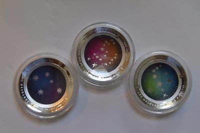 2012,2013,2014 $5 Southern Sky 3 coin set. With all Mint packaging .