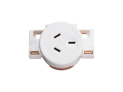 CLIPSAL 413QC Quick Connect Surface Socket - Qty 10 Electric WHITE 10A
