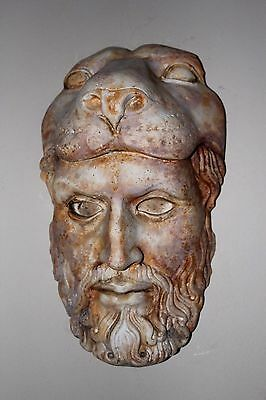 Greek Roman Mask Zeus Poseidon Marbleized Apollo Dionysus Skull Death Mask Lion