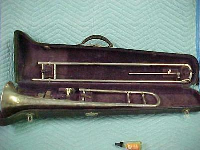 Antique Conn 4H Medium Bore Artist Trombone in Very Good  Condition.