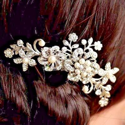 Wedding Hair Comb Accesory with Crystal Jewels and Pearls