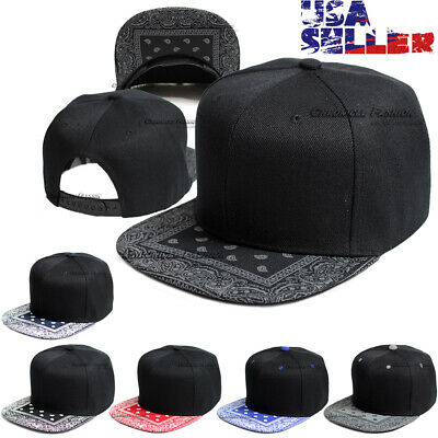 Baseball Hat Cap Snapback Bandana Visor Flat Hip Hop Adjustable Plain Hats Mens