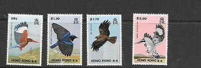 Stamps  Hong Kong  1988 Bird Set Of 4 Muh