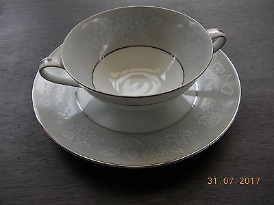 NORITAKE , Damask, Soupbowl and underplate 18cm diam. excellent condition.