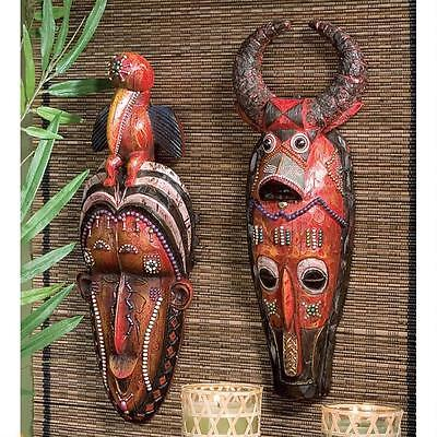 Wall Sculptures Masks of the Congo African Celebrations Tribal Motif Home Galler
