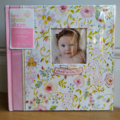 CR Gibson Sweet As Can Be Floral Baby Girl Floral Large Photo Album 160 4x6
