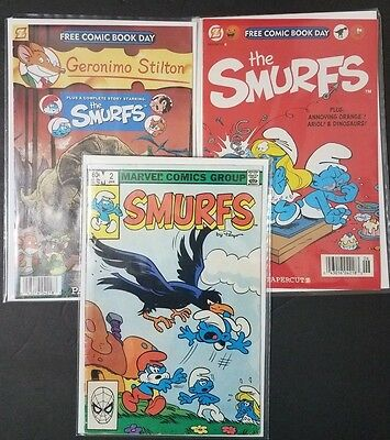 The Smurfs (Lot of 3 Comic Books)