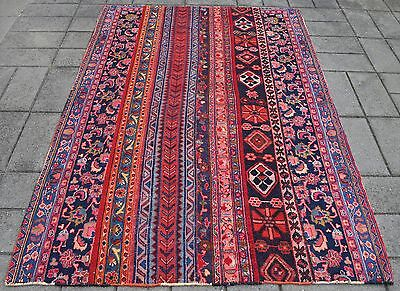 Persian Hand Knotted Vintage Patchwork Rug ( 207 x 148 CM ) Afghan Oriental Rugs