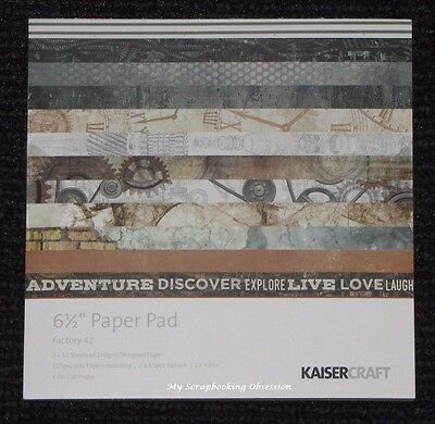 "Kaisercraft 'FACTORY 42' 6.5"" Paper Pad Steampunk/Men's/Cogs/Father's DayKAISER"