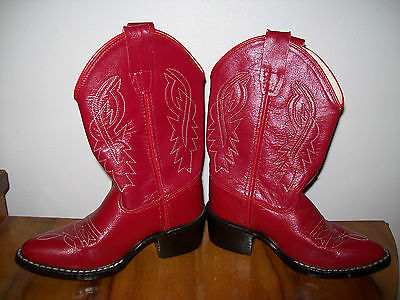 "1950s Vintage Western Boots - Red ""Old West"".  Kids - Near new."
