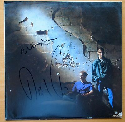 """Pet Shop Boys """"Actually"""" Personally Signed Record Inner Sleeve By 2 With Coa"""
