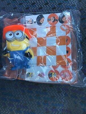 Despicable Me 3 McDonalds toys DESPICABLE CHECKERS Australia Happy Meal BNIP