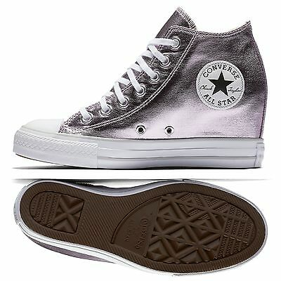 4b9571314fc Converse Chuck Taylor All Star Lux Metallic Mid Top 556779C Purple Women  Shoes