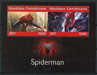 Central African Rep 2017 CTO Spiderman 2v M/S Marvel Superheroes Stamps
