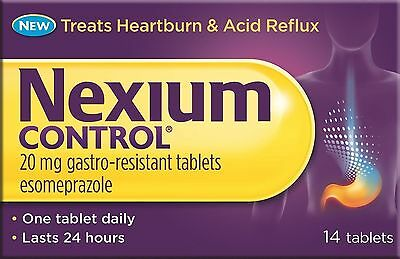 1,2 or 3 Packs - NEXIUM Control 20mg Tablets -  14 tablets