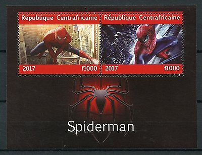 Central African Rep 2017 MNH Spiderman 2v M/S Marvel Superheroes Stamps