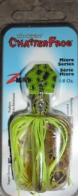 Z-man Chatter Frog (Micro Series) - 1/8oz - Green/Chartreuse, Bass Yellowbelly
