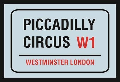 Piccadilly Circus W1 London Nostalgia Bar Mirror 8 11/16x12 5/8in