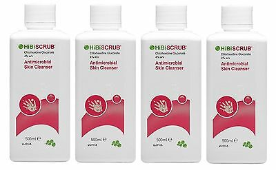 4 Packs - Hibiscrub Antibacterial Skin Cleanser - 500ml