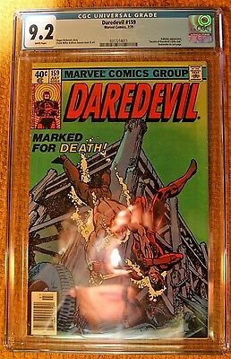 Marvels daredevil #159  CGC Graded 9.2.  Newly graded in new case