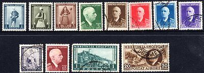 ALBANIA	SG 351+	1939	Assorted Values up to 20q		FU