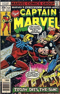 CAPTAIN MARVEL # 57 Marvel Comics (Thanos and Thor) VOL 1 1978 Good/VG