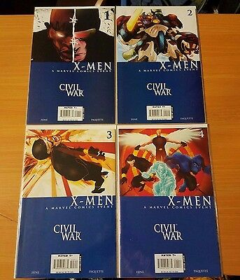 X-Men Civil War 1-4 Complete Set Run! ~ NEAR MINT NM ~ 2006 Marvel Comics