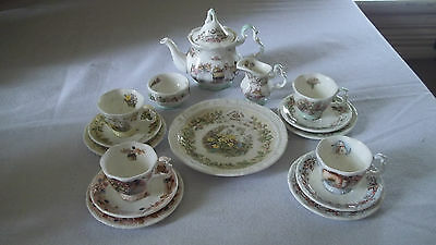 C Royal Doulton Brambly Hedge Miniature Tea Set 16 Pieces All Seasons