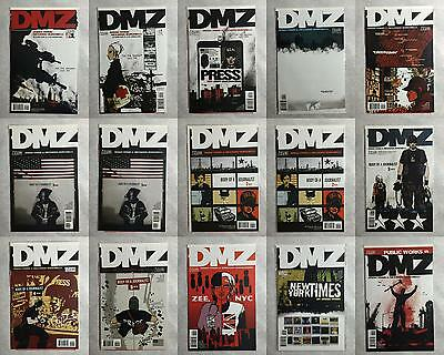 DMZ 15 Comic Lot (1 2 3 4 5 6 6 7 7 8 9 10 11 12 13) Vertigo