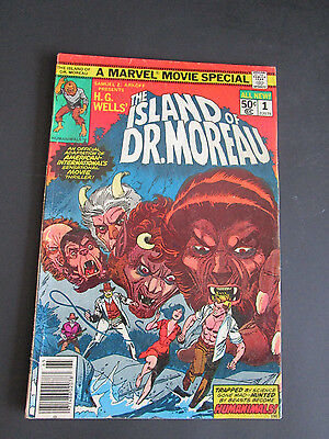 The Island Of Dr. Moreau #1 Comic From 1977