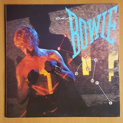 DAVID BOWIE Let's Dance LP EX/VG AML 3029 UK With Lyric Inner EMI America