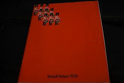 Bang & Olufsen 78/79 Catalogue Beosystems Beovision Beocord 50 Pages Excellent