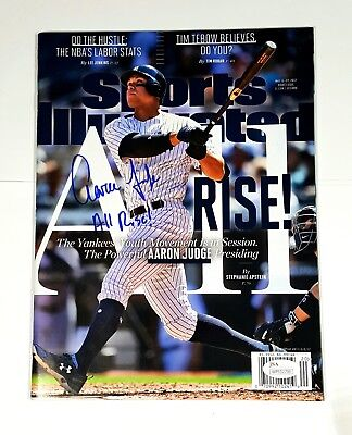 Aaron Judge Autographed 1st Sports Illustrated Inscribed All Rise w/ JSA COA!!