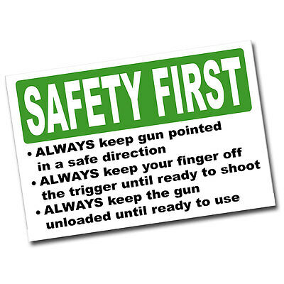 Gun Safety First Rules 8x12 Inch Aluminum Sign