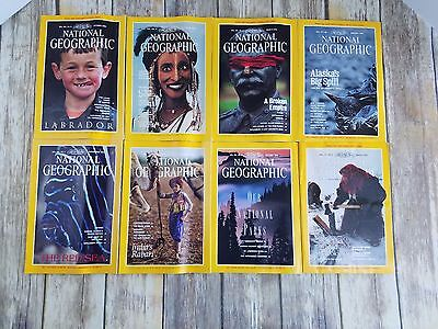 Vintage 1980's through 1990's National Geographic Magazine With Maps & Inserts